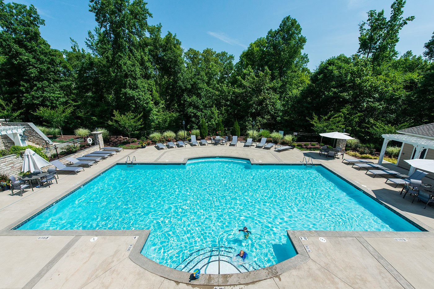 The pool at the Hamptons Clubhouse