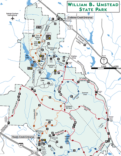 Map of Umstead Park
